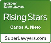 "Carlos Nieto selected as a Maryland ""Rising Star"" by Baltimore Magazine and Maryland Super Lawyers Magazine, 2019 – 2020"