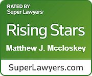 """McCloskey selected as a Maryland """"Rising Star"""" by Baltimore Magazine and Super Lawyers Magazine, 2019 – 2020"""